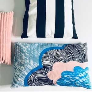 Other - Pink Black and Blue Geometric Decor Pillow Cover